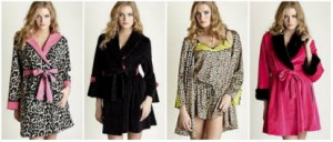 """Betsey Johnson Designer Wrap Robes"""