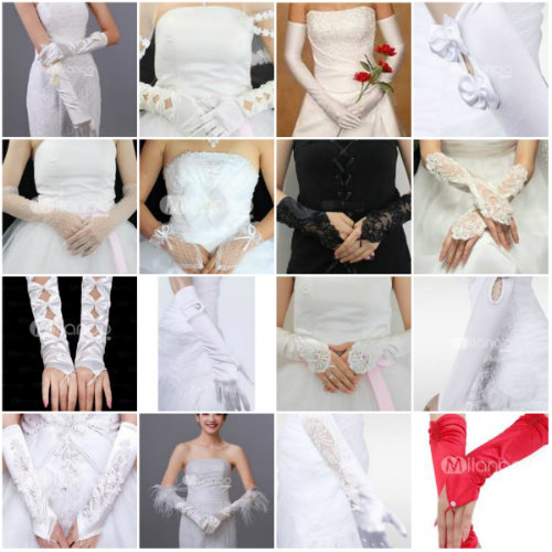 elegant bridal gloves