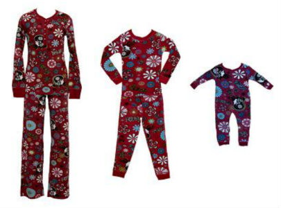"""PJ Salvage Peace & Love Mommy and Me Thermal Loungewear"""